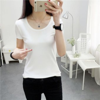 Harga Women summer o neck casual slim tee t-shirt - intl