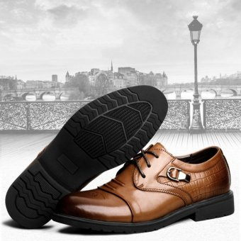 Harga Men business leather shoes fashion british style formal and casual shoes - intl