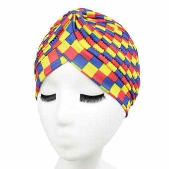 Harga Fashion Color Stripe Hat India Women Turban Hat Ma'am Headdress - intl