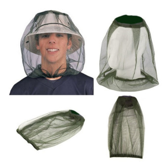 Harga Amart Anti-mosquito Cap Hedging Insect Mesh Head Net Face Protector Hat For Outdoor Camping - intl