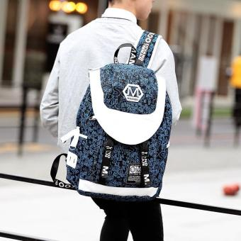 Harga Tidog Korean male fashion tide Backpack men Travel Backpack - intl
