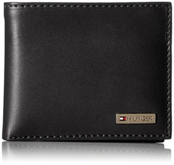 Harga Tommy Hilfiger Leather Mens Multi-Card Passcase Bifold Wallet with Removable Card Case, Black - intl