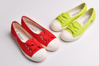 Harga Ms. Transboundary Cooperation Models Shallow Mouth Canvas Shoes A Pedal Comfortable Oh Tag 298 Yuan (Red)