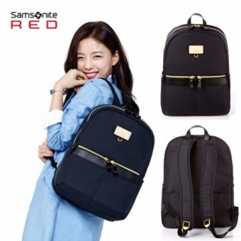 Harga [Samsonite RED] For Woman Casual Daily Backpack AA209001(Black)★Can hold 13inch notebook★ Korean Star(Kim Yoo Jung) backpack / School bag / Business bags - intl