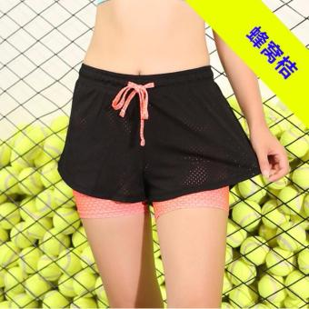 Harga Ladies's Sports Shorts Fake Two Piece Mesh Cover Suitable for Fitness、Zumba、Yoga and Jogging. - intl