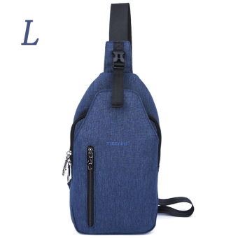 Harga Tigernu Brand Size L Waterproof Oxford Fabric Sling Phone Crossbody BagT-B8027L(Blue)