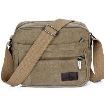 Harga crossbody bags for men on sale bolsas style men's travel Men Messenger Bags Canvas Bag Shoulder Bags QT200 - intl