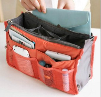 Harga Women's Fashion Bag-In-Bag Multifunctional Organiser Travel Handbag (red) - intl