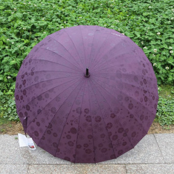Indie bone in case of water open umbrella rain or shine umbrella (Deep Purple)