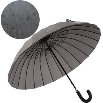 Indie bone in case of water open umbrella rain or shine umbrella (Gray)