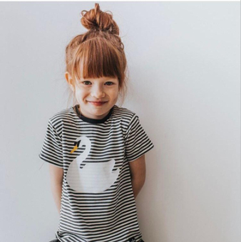 ins same paragraph childrens baby shortsleeved tshirt cotton new style summer small childrens clothing girls boys