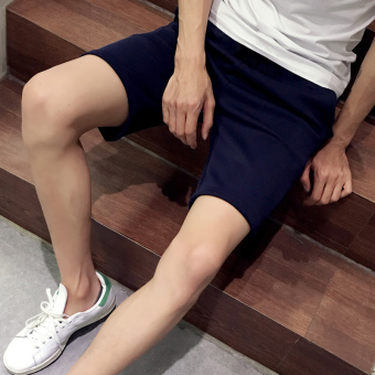 Japanese-style Slim fit casual pants sports shorts (K526-dark blue color)
