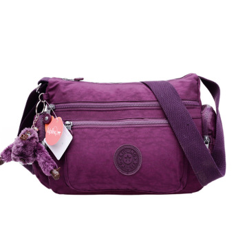 Kipling style women's Shoulder Bags Canvas messenger bag(violet)
