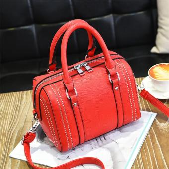Harga Korean-style female New style portable trendy bag (Red)