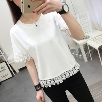 Korean-style lace female on the clothes (710 * white)