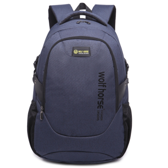 Korean-style men backpack High School Students school bag (Sapphire blue color)
