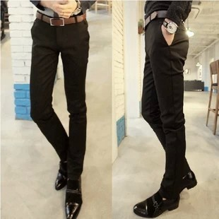 Korean-style solid business Slim fit men pants casual pants suit