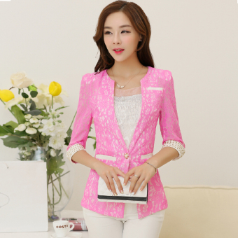 Korean-style three-quarter-length sleeve Slim fit women's casual suit female coat