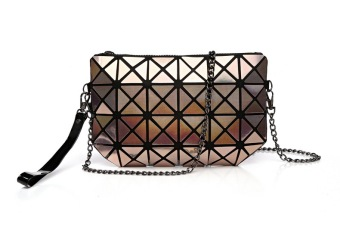 Laser geometric folding bag Lingge bag (Champagne color)