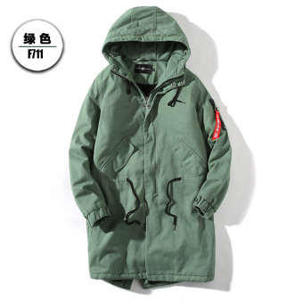 LOOESN Korean-style Lamb's wool thick Plus-sized cotton winter jacket (Green)