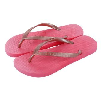 Luofu luo fu rubber solid ladies casual sandals flip flops shoes female summer flat beach flip