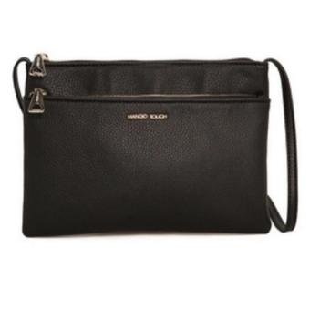 Harga Mango Double Compartments Crossbody Bag (Black) - intl