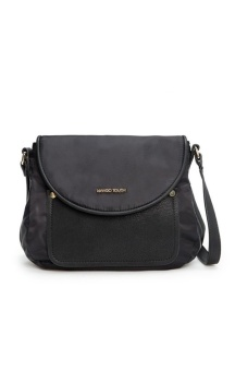 Mango Nylon Cross Body Sling Bag (Black)