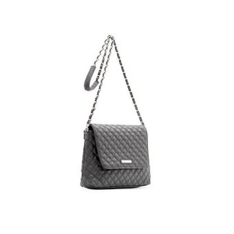 Mango Quilted Chain Leather Sling Bag Cross body Handbag - Black - intl - 2