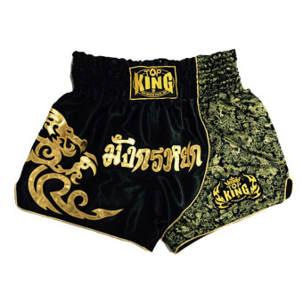 Men and women Muay Thai integrated fighting boxing shorts Muay Thai shorts (Black)