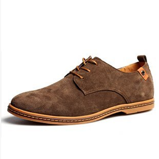 Men shoes 2017 New suede leather fashion winter (Pale khaki)