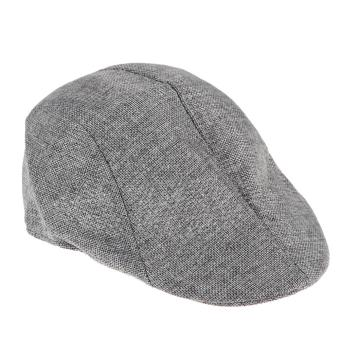 Mens Vintage Flat Cap Peaked Racing Hat Beret Country GolfNewsboy(Grey)