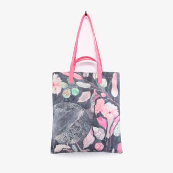 Momo design brand small speaker original sen female small fresh flower canvas bag handbag shoulder bag (Shoulder bag version2)