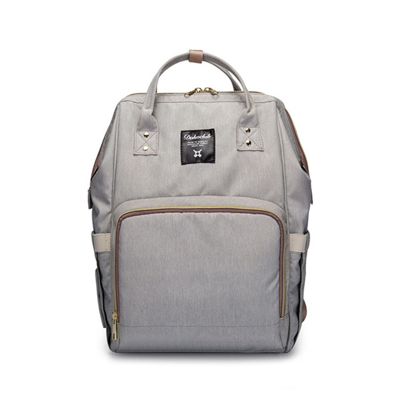Multi-functional large capacity backpack mommy bag (Light gray color) (Light gray color)