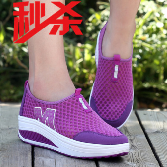 New style summer foot covering rocking shoes women's mesh shoes (3308 purple)