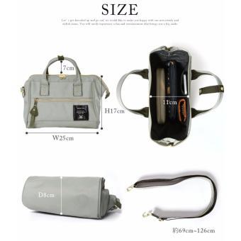 original anello 2 way boston bag shoulder bag (mini size, Black color) - 5