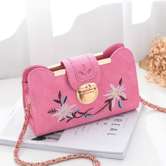 Qiudong Korean-style female New style shoulder bag chain bag (Pink trumpet)