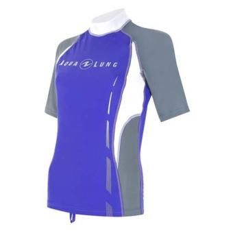 Rashguard Puple/Grey Women Short Sleeves