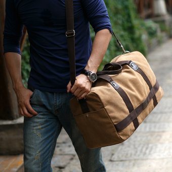 shoulder bag men handbag canvas bag messenger big bag travel bag luggage mens bao baohan stylish