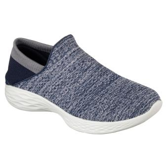 SKECHERS YOU (WHITE WITH NAVY BLUE)