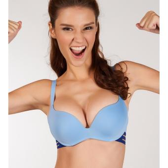 sloggi Fly High Non-Wired Push Up Sports Bra (Blue)
