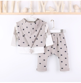 Small eight seven autumn New style boys sports suit infants andchildren fashion children's clothing baby three sets of0-6-Year-Old Cotton (Casual color) - 2