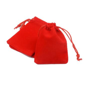 Harga Small Red Velvet Drawstring Pouch