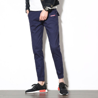 Spring New style casual pants (Dark blue color)