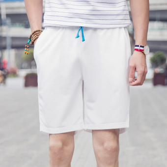Summer thin section sports shorts (White)