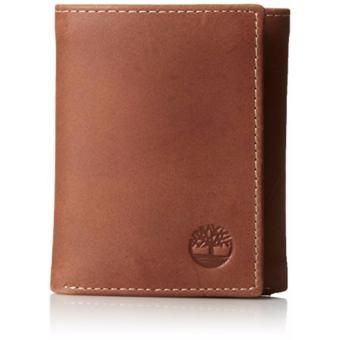 Timberland Men's Leather Wallet Hunter Trifold Brown