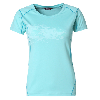 Toread quick-drying T-shirt women spring and summer outdoor roundneck short sleeve moisture wicking quick-drying breathable (Babyblue)