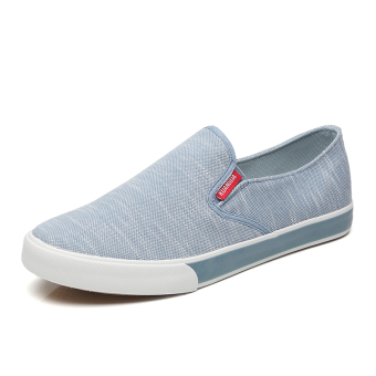 Ulzzang New style summer canvas shoes (Men's + Light Blue)