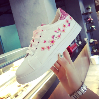 Ulzzang versatile female New style student's shoes canvas shoes (Pink)
