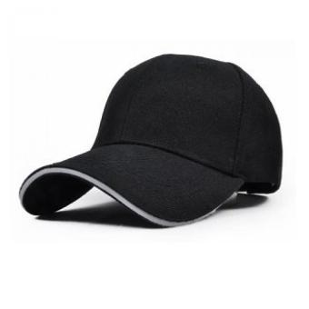 Unisex Adjustable Solid Color Cotton Baseball Hat Sports Cap Black