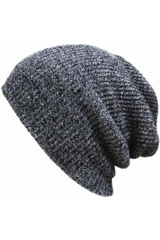 Unisex Hip-hop Beanie Hat Winter Hats Cap Dark Gray